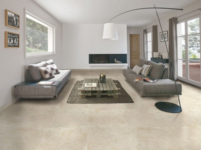 Carrelage grand format beige accueil design et mobilier Carrelage salon