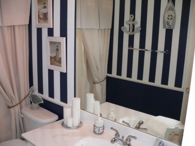 R aliser une d coration mer dans sa salle de bain for Salle de bain theme mer