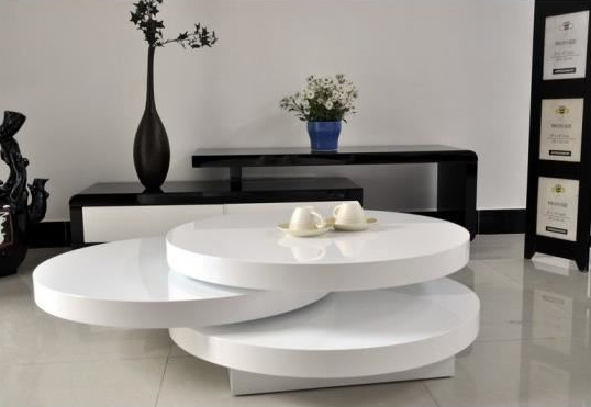 Table basse arrondie - Deco table salon ...