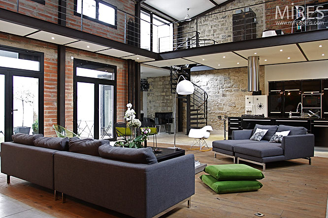 D coration salon style loft - Decoration loft industriel ...