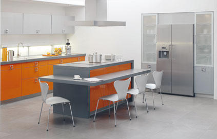 ilot central cuisine design