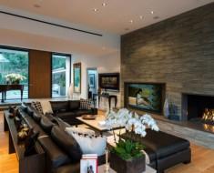 cheminée salon moderne