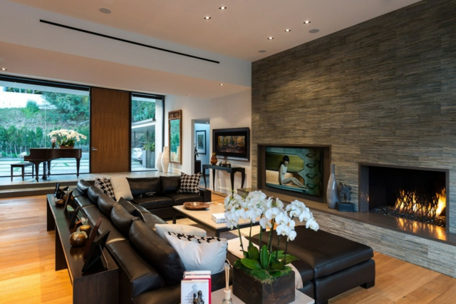 cheminee moderne salon