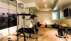 salle de sport dans la cave