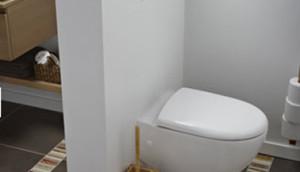 séparation toilettes salle de bain