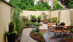 décoration terrasse jardin gravier