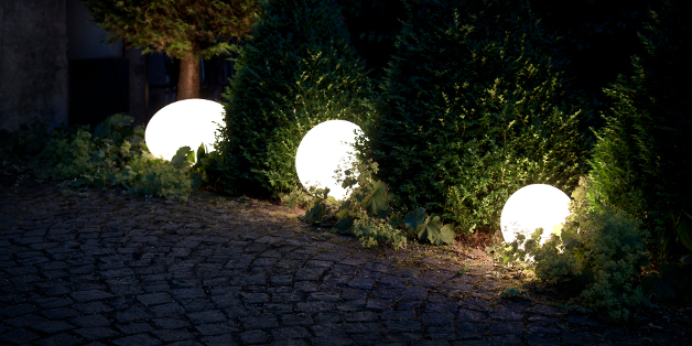 Lampes d 39 exterieur for Luminaire exterieur sol