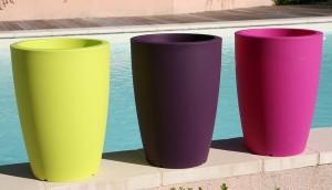pots plastique couleur